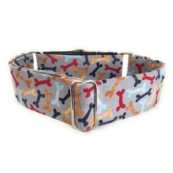 collar perro huesos gris 1-min