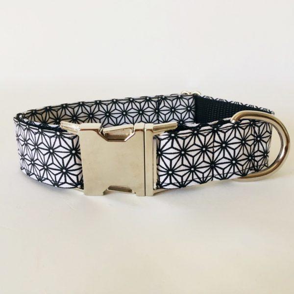 collar perro japan blanco y negro 2