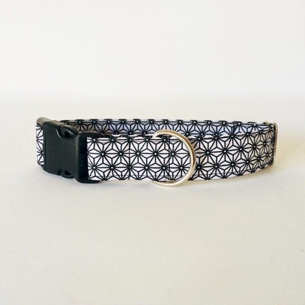 collar perro japan blanco y negro 3