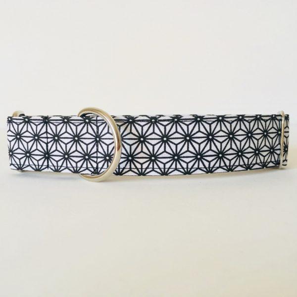 collar perro japan blanco y negro 4