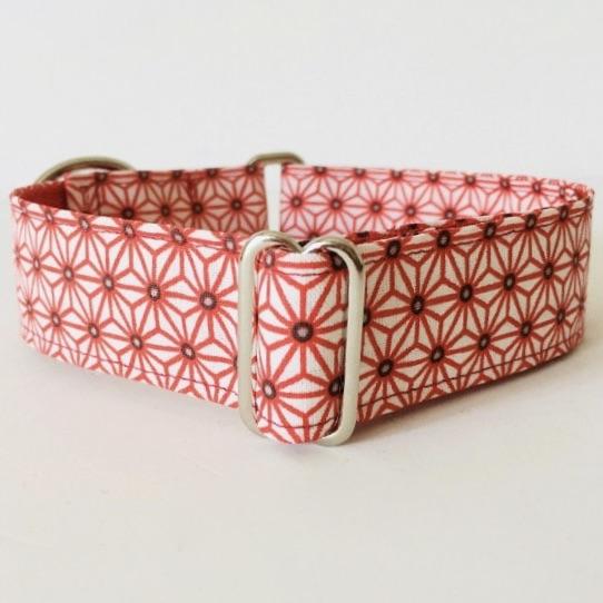 collar perro japan blanco y rojo 1