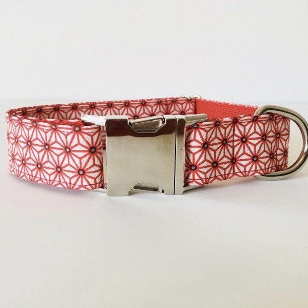 collar perro japan blanco y rojo 2