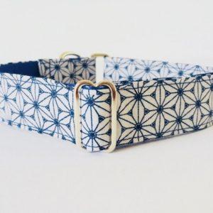 collar perro japan gris y azul 1