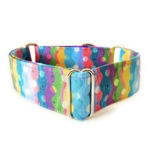 collar perro lunares arcoiris 1-min