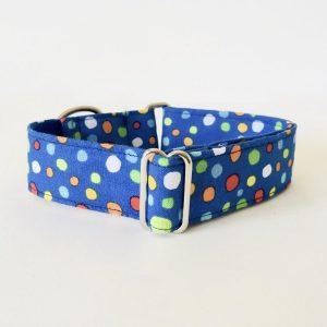 collar perro lunares azul colores 2