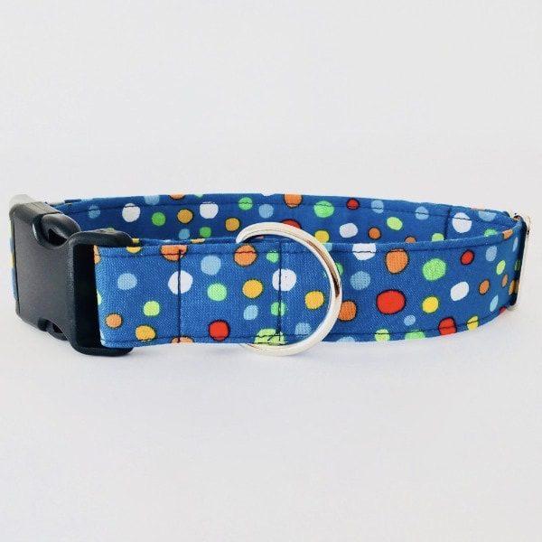 collar perro lunares azul colores 3