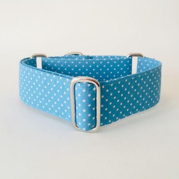 collar perro lunares azul mini 1-min