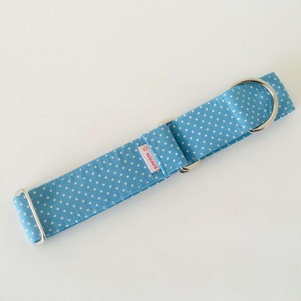 collar perro lunares azul mini 3-min