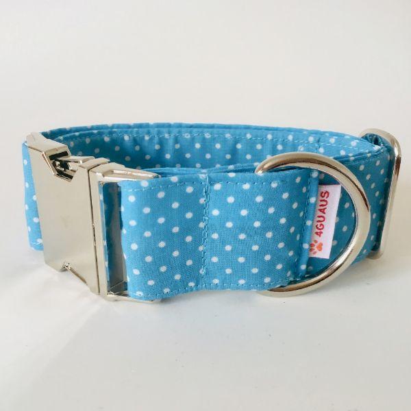 collar perro lunares azul mini 4-min