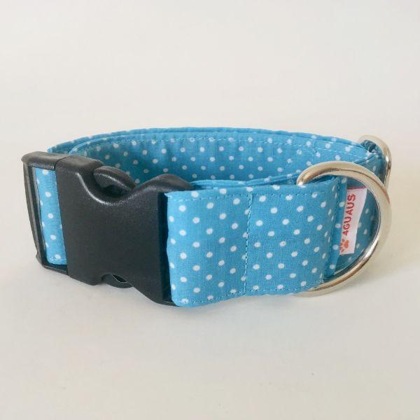 collar perro lunares azul mini 6-min