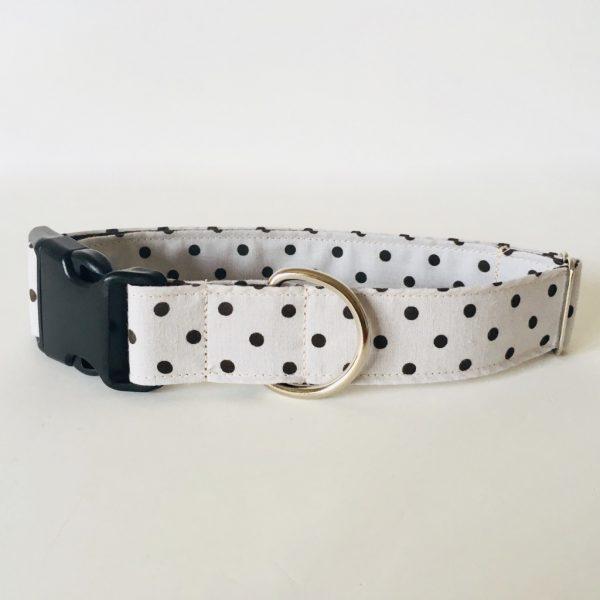 collar perro lunares marron beige 3