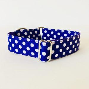 collar perro lunares morado 1