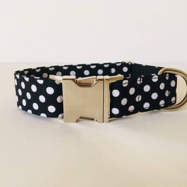 collar perro lunares negro 1