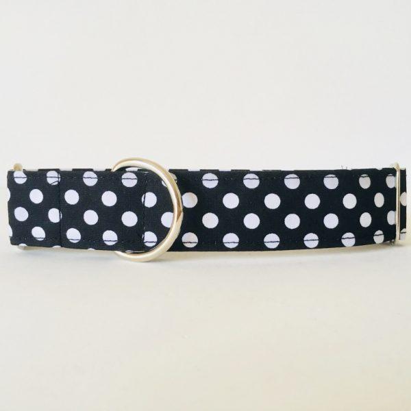 collar perro lunares negro 2