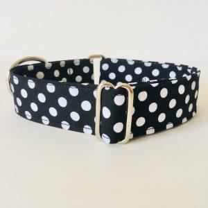 collar perro lunares negro 3
