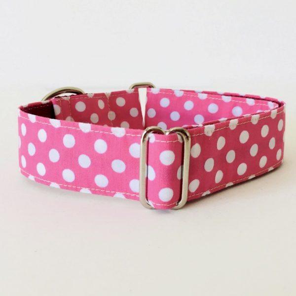collar perro lunares rosa 1