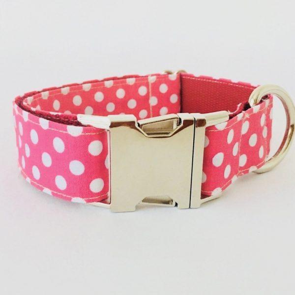 collar perro lunares rosa 4