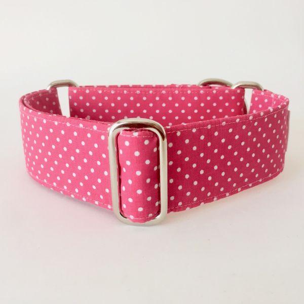 collar perro lunares rosa mini 1-min