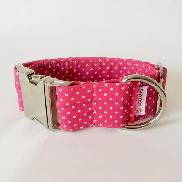 collar perro lunares rosa mini 4-min