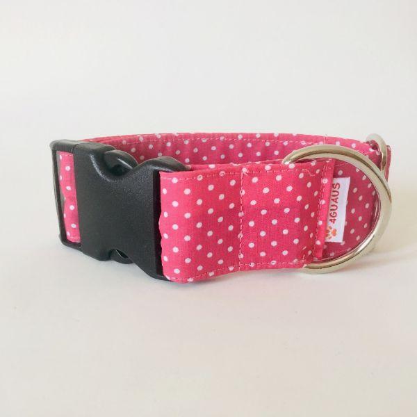 collar perro lunares rosa mini 6-min
