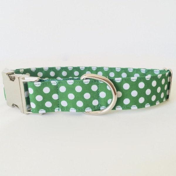 collar perro lunares verde 5