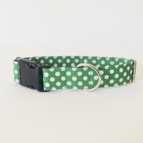 collar perro lunares verde 8