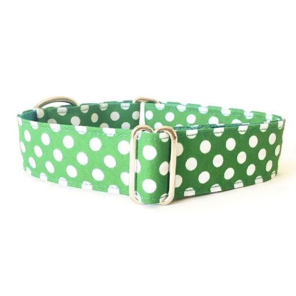 collar perro lunares verde FB-min