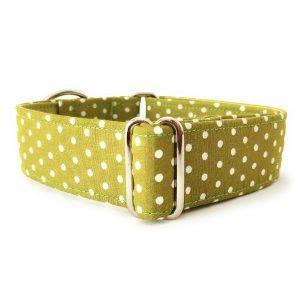 collar perro lunares verde oliva FB-min