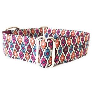 collar perro mosaico naranja FB-min