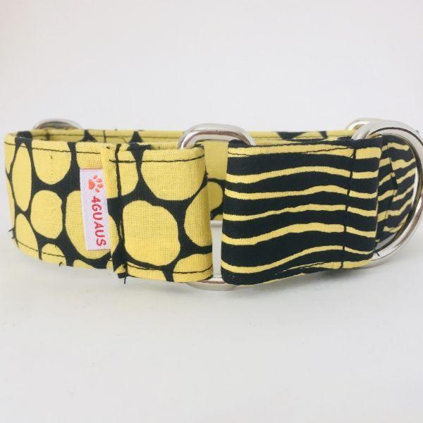 collar perro negro y amarillo 3-min