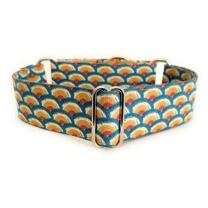 collar perro ondas azul y mostaza 1-min