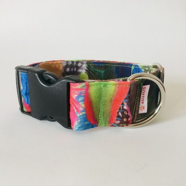 collar perro plumas colores 6-min