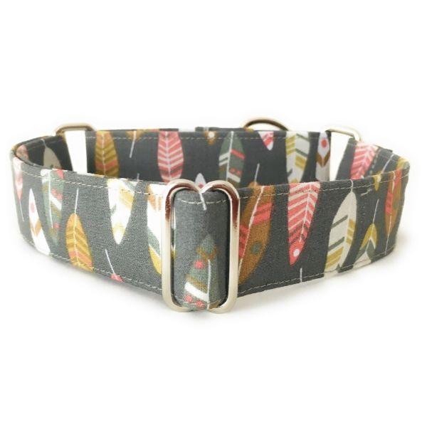 collar perro plumas indio verde FB-min
