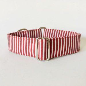 collar perro rayas rojo y blanco 1-min