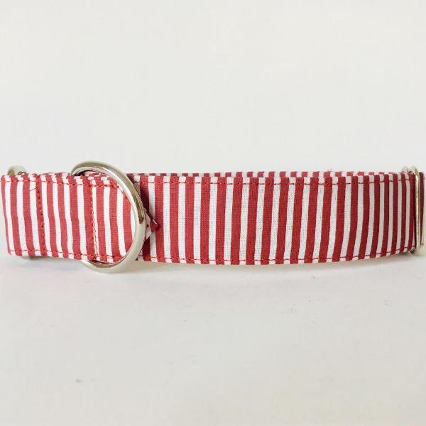 collar perro rayas rojo y blanco 2-min