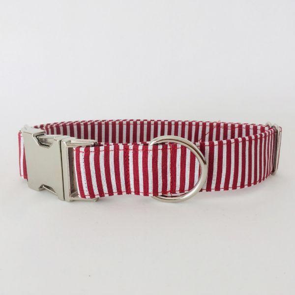 collar perro rayas rojo y blanco 4-min