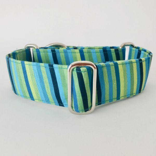 collar perro rayas verdes 1-min