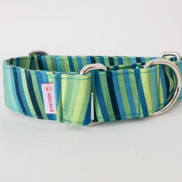 collar perro rayas verdes 2-min