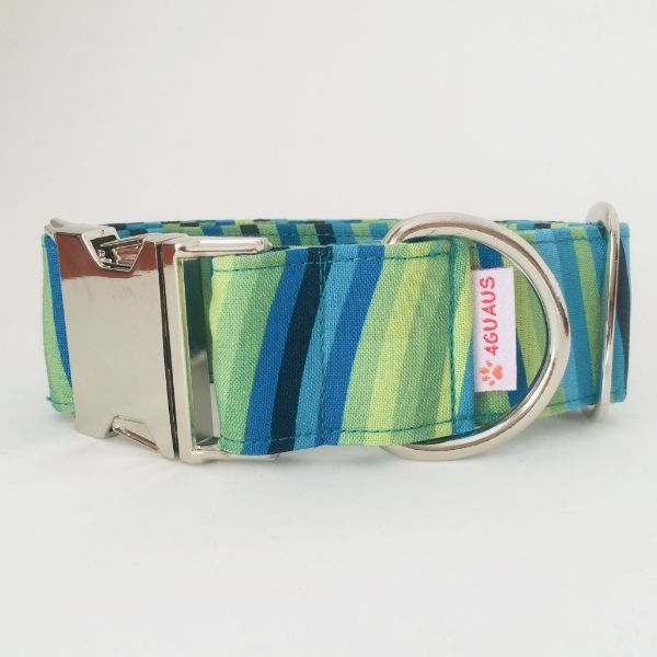 collar perro rayas verdes 4-min