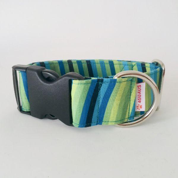 collar perro rayas verdes 6-min