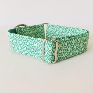 collar perro rombos verde 3