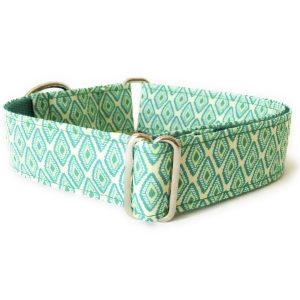 collar perro rombos verde FB-min