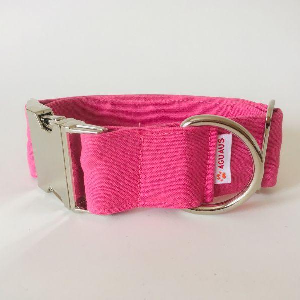 collar perro rosa fluor 4-min
