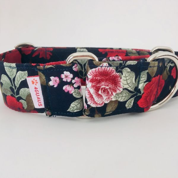 collar perro rosas 2-min