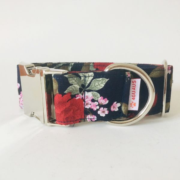 collar perro rosas 5-min