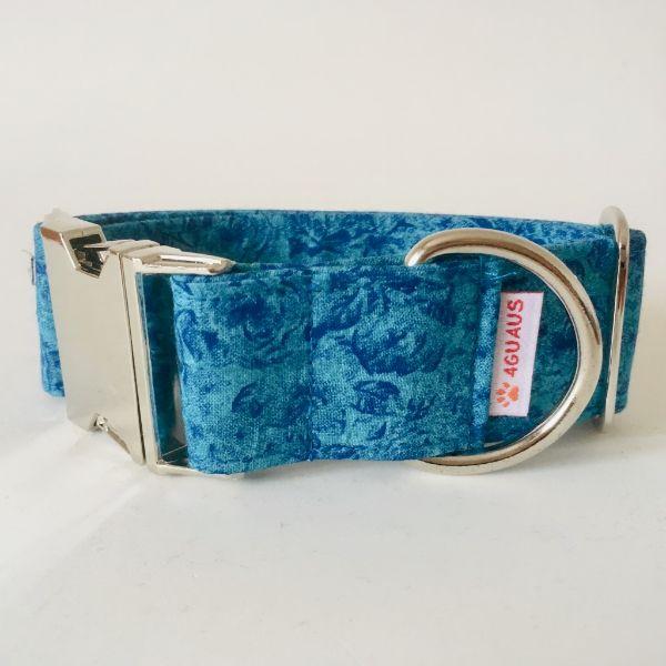 collar perro rosas azules 4-min