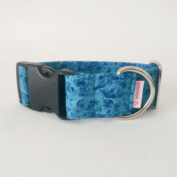 collar perro rosas azules 6-min