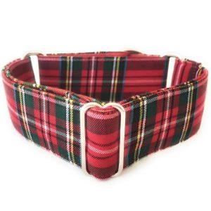 collar perro tartan rojo 1-min