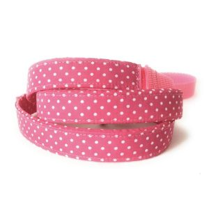correa perro lunares rosa mini-min